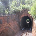 Tunnel with hand made bricks