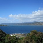 View of Wellington Harbour from Tarakena Bay