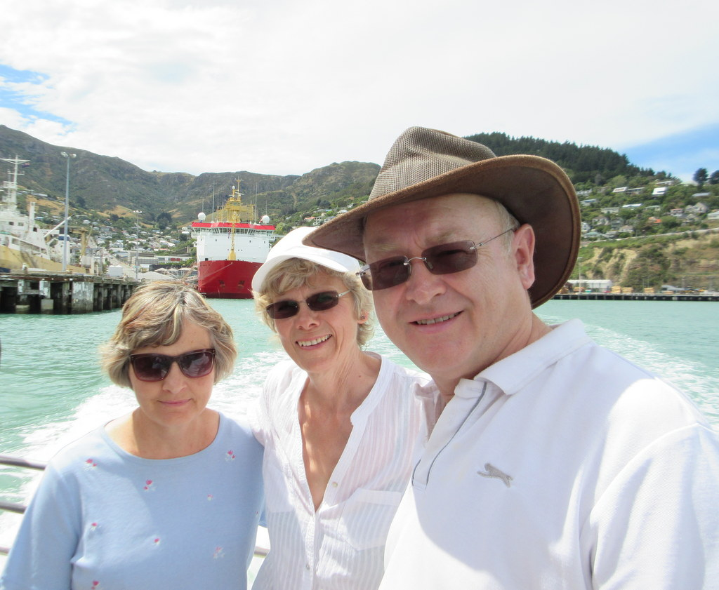 On the Littleton to Diamond Harbour Ferry with Beth