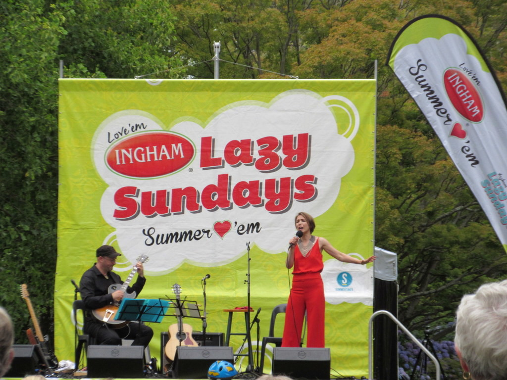 Yulia at the Lazy Sunday Concert in Christchurch