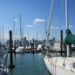 View of the City from Westhaven Marina, Auckland